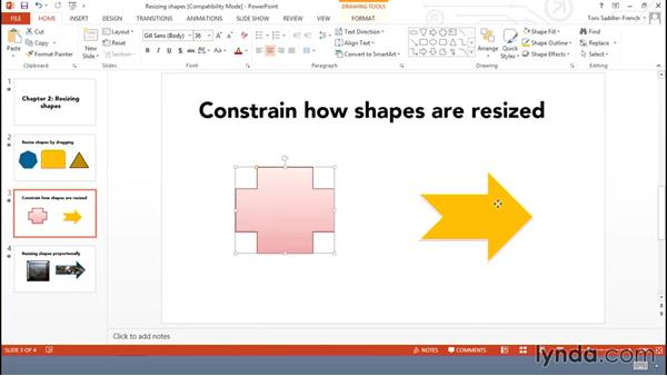 Resizing shapes: Using Office Shapes and SmartArt to Enhance Business Documents