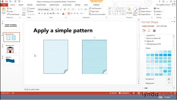 Applying patterns and textures: Using Office Shapes and SmartArt to Enhance Business Documents