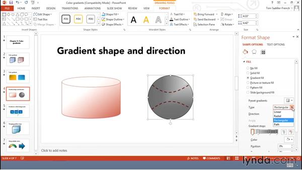 Applying and modifying color gradients: Using Office Shapes and SmartArt to Enhance Business Documents