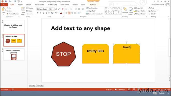 Adding text to shapes: Using Office Shapes and SmartArt to Enhance Business Documents