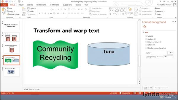 Formatting text in shapes: Using Office Shapes and SmartArt to Enhance Business Documents