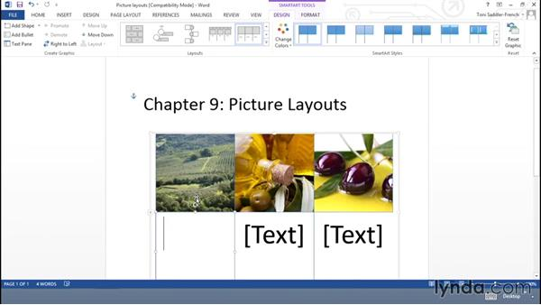 Creating a SmartArt layout from pictures: Using Office Shapes and SmartArt to Enhance Business Documents