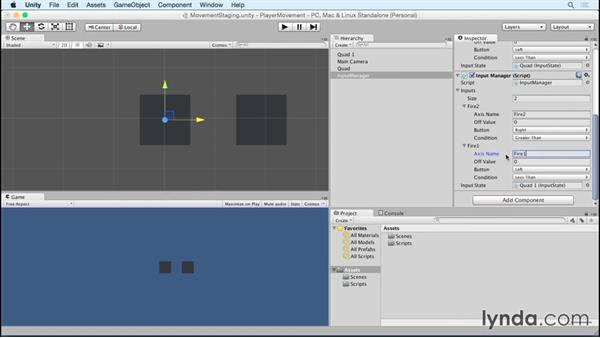Building multiple input managers for multi-player games: Advanced Unity 2D: Platformer Player Movement