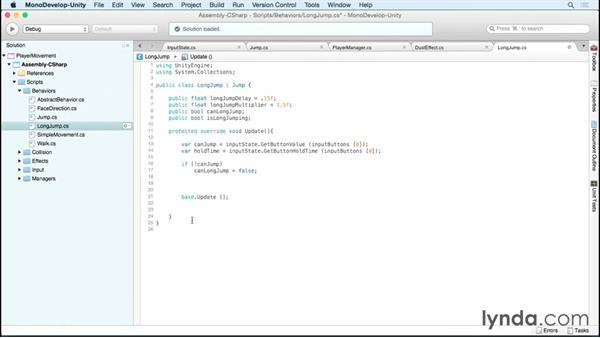 Adding long jump: Advanced Unity 2D: Platformer Player Movement