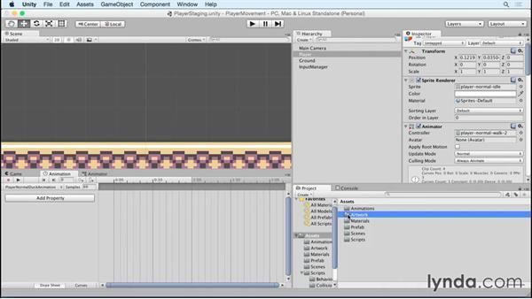 Adding the ducking animation: Advanced Unity 2D: Platformer Player Movement
