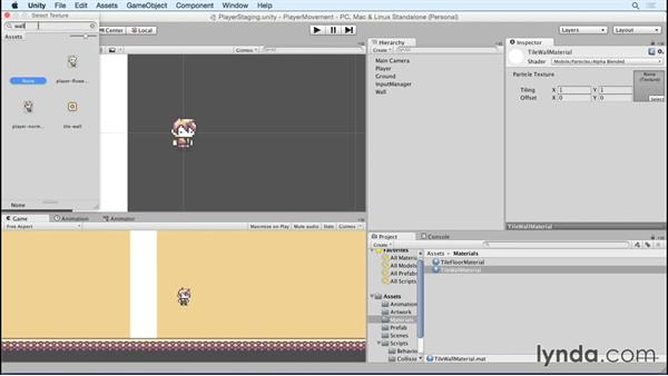Building walls for the test level: Advanced Unity 2D: Platformer Player Movement