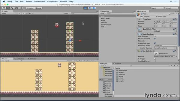Testing out wall-to-wall jumping: Advanced Unity 2D: Platformer Player Movement