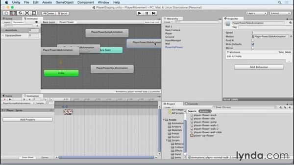 Adding additional item animation states: Advanced Unity 2D: Platformer Player Movement