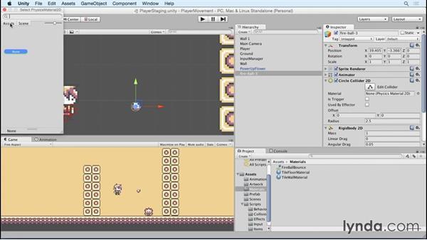 Creating a fireball: Advanced Unity 2D: Platformer Player Movement