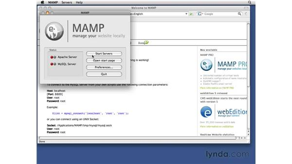 Installing MAMP: Drupal 6 Essential Training