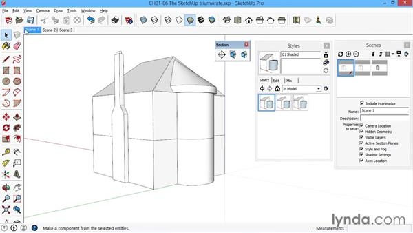 The SketchUp triumvirate: Styles, scenes, and sections: SketchUp for Architecture: LayOut