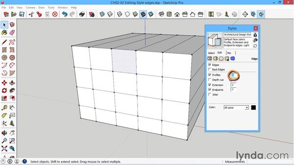 Editing style edges: SketchUp for Architecture: LayOut