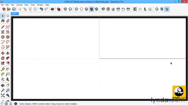 Creating a template watermark with SketchUp: SketchUp for Architecture: LayOut