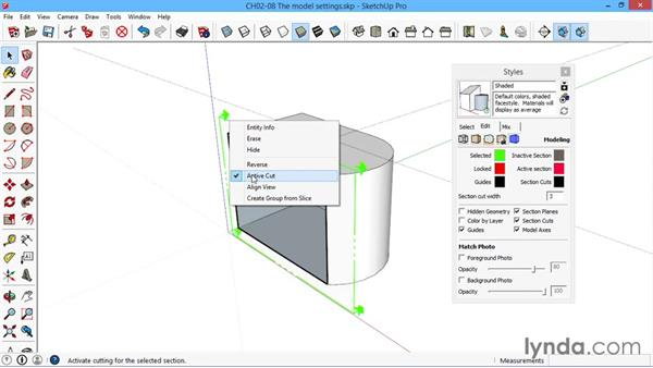 The model settings: SketchUp for Architecture: LayOut