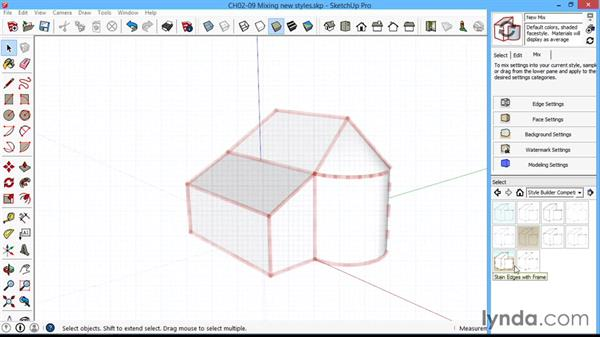 Mixing new styles: SketchUp for Architecture: LayOut