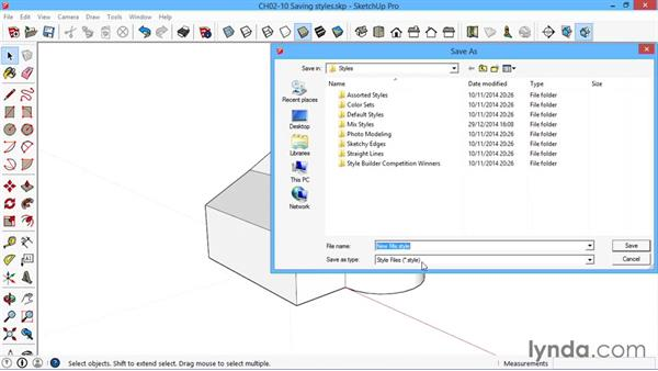 Saving styles: SketchUp for Architecture: LayOut