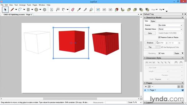 Updating scenes: SketchUp for Architecture: LayOut