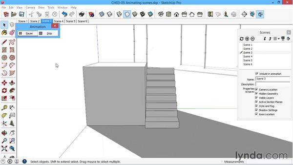 Animating scenes: SketchUp for Architecture: LayOut