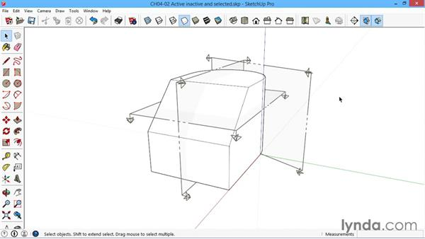 Active, inactive, and selected: SketchUp for Architecture: LayOut