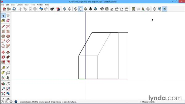 Aligning, flipping, and exporting sections: SketchUp for Architecture: LayOut