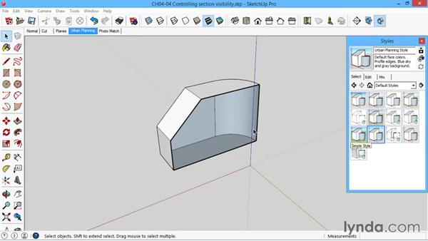 Controlling section visibility: SketchUp for Architecture: LayOut