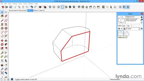 Animating sections: SketchUp for Architecture: LayOut