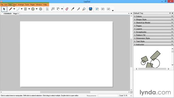 The LayOut interface: SketchUp for Architecture: LayOut