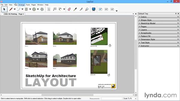 Print setup: SketchUp for Architecture: LayOut