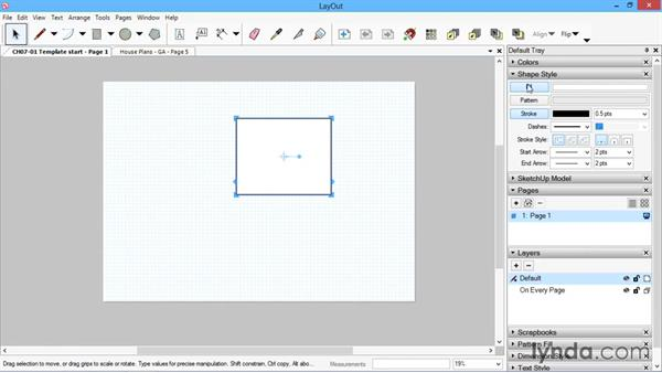 Template start: SketchUp for Architecture: LayOut