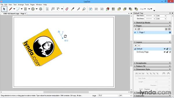 Inserting the company logo: SketchUp for Architecture: LayOut