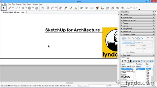 Finishing the title box: SketchUp for Architecture: LayOut