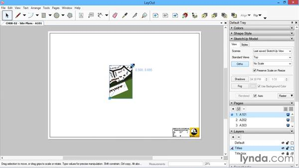 Site plans: SketchUp for Architecture: LayOut