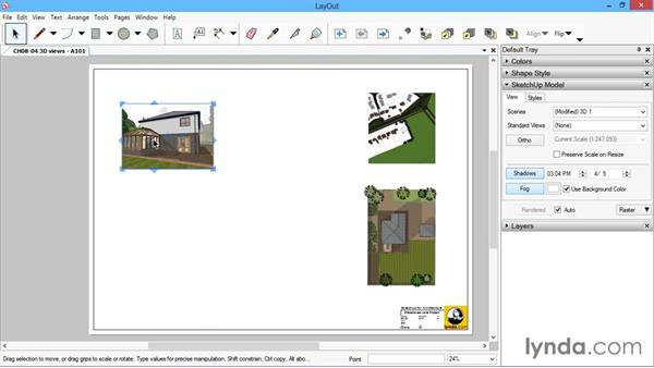3D views: SketchUp for Architecture: LayOut