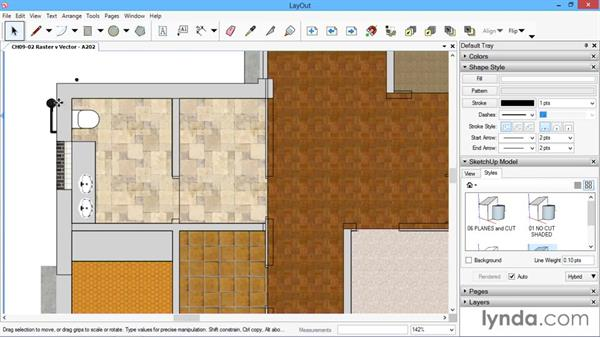 Raster vs. vector: SketchUp for Architecture: LayOut