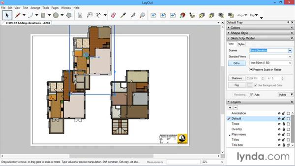 Adding elevations: SketchUp for Architecture: LayOut
