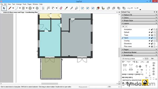 Floor zones and tags: SketchUp for Architecture: LayOut