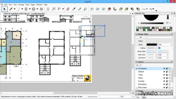 Exploding model objects: SketchUp for Architecture: LayOut