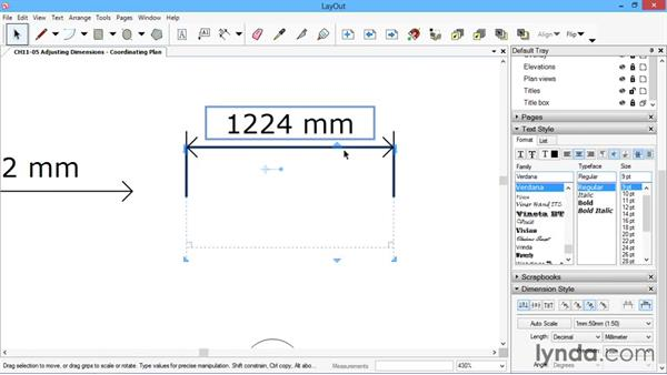Adjusting dimensions: SketchUp for Architecture: LayOut
