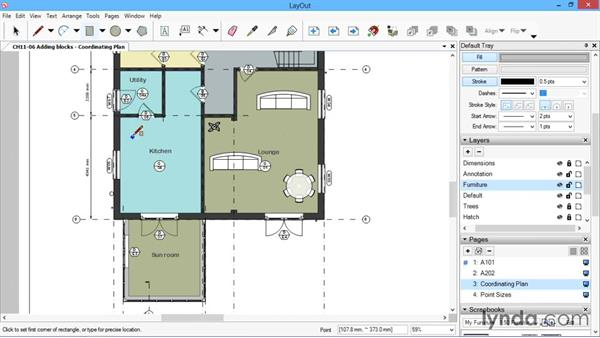 Adding blocks: SketchUp for Architecture: LayOut