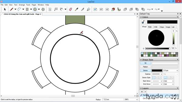 Using the Join and Split tools: SketchUp for Architecture: LayOut