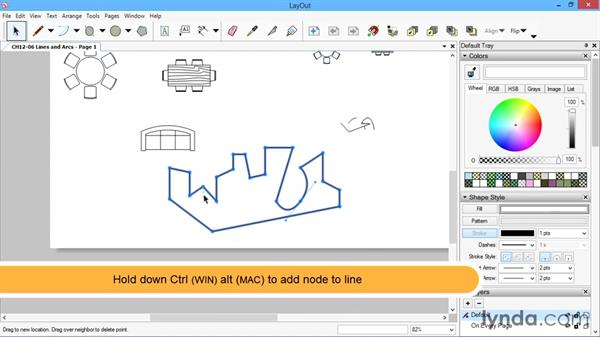 Lines and arcs: SketchUp for Architecture: LayOut