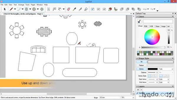 Rectangles, circles, and polygons: SketchUp for Architecture: LayOut