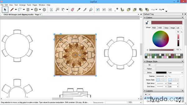 Images and clipping masks: SketchUp for Architecture: LayOut