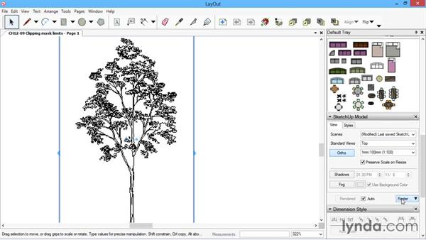 Clipping mask limits: SketchUp for Architecture: LayOut