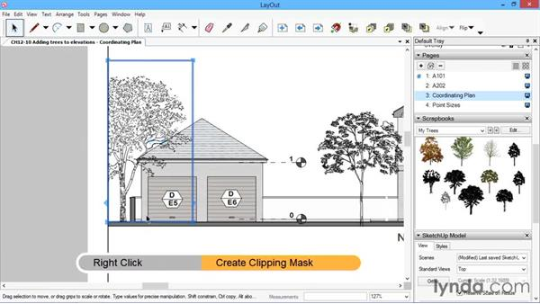 Adding trees to elevations: SketchUp for Architecture: LayOut