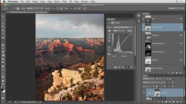 Applying luminosity masks in Photoshop