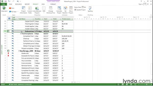 Inserting subprojects into a Project file: Advanced Microsoft Project
