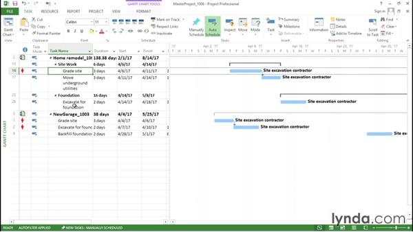 Linking tasks in different projects: Advanced Microsoft Project