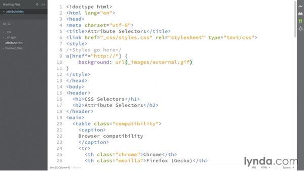 String matching: CSS: Selectors