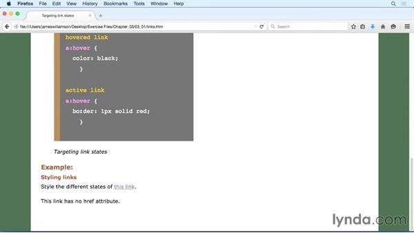 Targeting links: CSS: Selectors